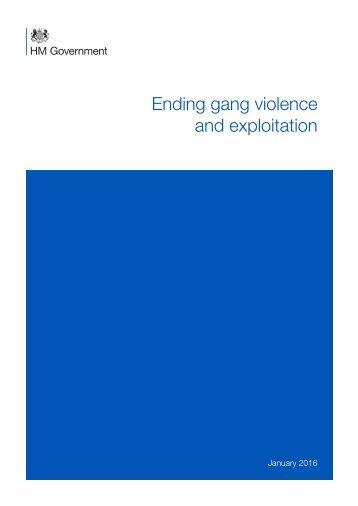 Ending gang violence and exploitation