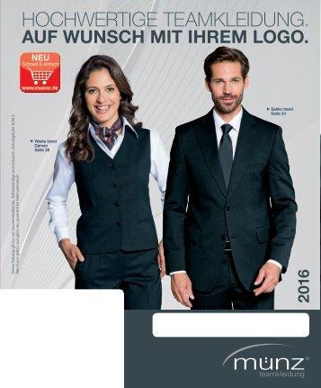 münz teamkleidung - Katalog 2016