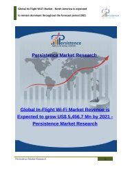 Global In-Flight Wi-Fi Market Revenue is Expected to grow US$ 5,456.7 Mn by 2021