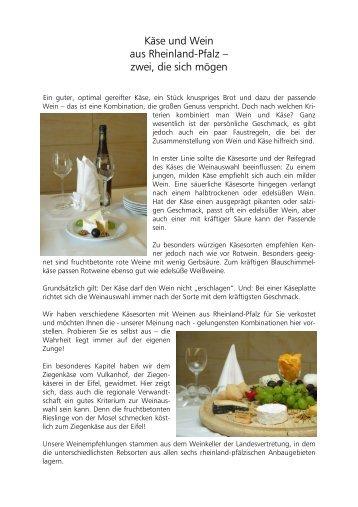 Käse und Wein aus Rheinland-Pfalz - in Rheinland-Pfalz