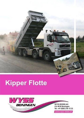 Kipper Flotte Faltprospekt