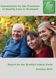 Commission for the Provision of Quality Care in Scotland