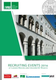 Brochure Recruiting Events LMU 2016