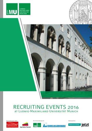 Brochure Recruiting Events LMU 2016