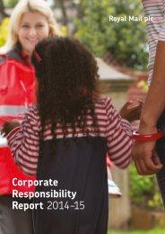 Corporate Responsibility Report 2014–15