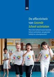 De effectiviteit van Gezonde School-activiteiten