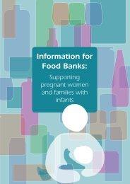 Information for Food Banks