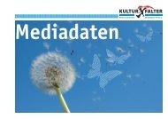 Mediadaten - Kulturfalter
