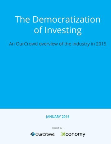 THE DEMOCRATIZATION OF INVESTING - PAGE 1