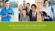 Bucks County 2016 Hiring Report