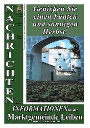 Gemeindezeitung 3/2006 - Marktgemeinde Leiben