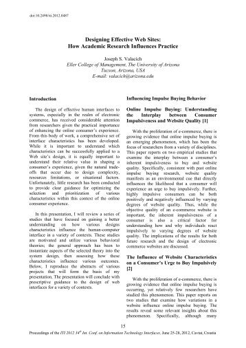 Designing Effective Web Sites: How Academic Research ... - Iti