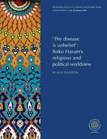 Boko Haram's religious and political worldview