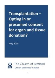 Transplantation – Opting in or presumed consent for organ and tissue donation?