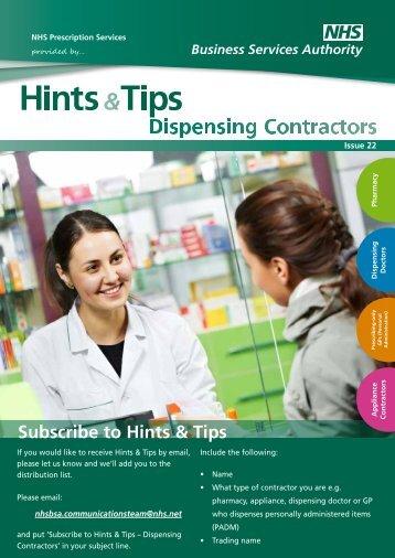 Prescribing-only Contractors