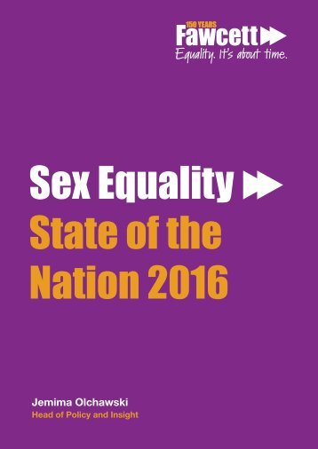 Sex Equality State of the Nation 2016