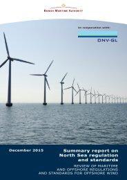 Summary report on North Sea regulation and standards