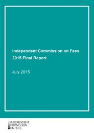 Independent Commission on Fees 2015 Final Report July 2015