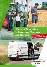 Raiffeisen Technik - Höchste Qualität in Beratung, Technik und Service