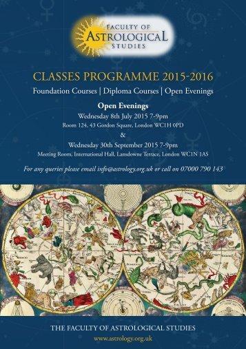 Classes Programme 2015-2016