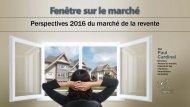 Perspectives 2016 du marché de la revente