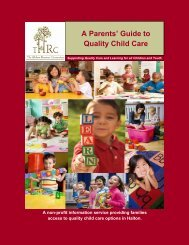 A Parents' Guide to Quality Child Care