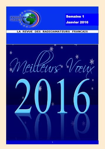 Semaine 1 Janvier 2016