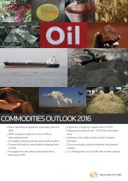 COMMODITIES OUTLOOK 2016