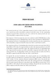 PRESS RELEASE EURO AREA SECURITIES ... - Banque de France
