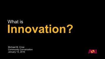 Innovation?