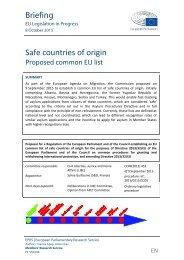Safe countries of origin