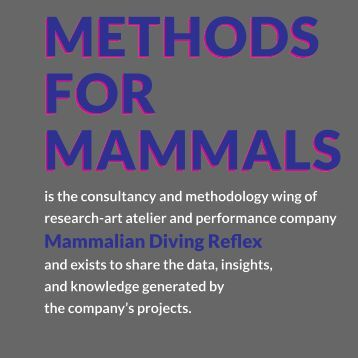 METHODS FOR MAMMALS