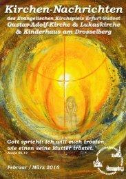 Kirchen-Nachrichten Februar März 2016 Erfurt Südost