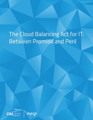 The Cloud Balancing Act for IT Between Promise and Peril