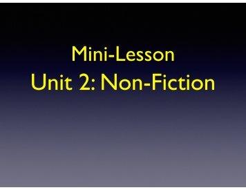 Unit 2 Non-Fiction