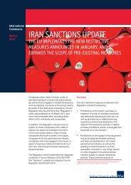IRAN SANCTIONS UPDATE - Holman Fenwick Willan