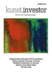 KUNSTINVESTOR  AUSGABE JÄNNER 2016