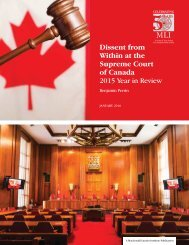 Dissent from Within at the Supreme Court of Canada 2015 Year in Review