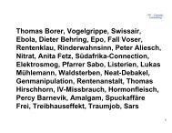 Thomas Borer, Vogelgrippe, Swissair, Ebola, Dieter Behring, Epo ...