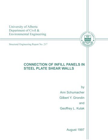 CONNECTION OF INFILL PANELS IN STEEL PLATE SHEAR WALLS