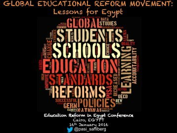 GLOBAL EDUCATIONAL REFORM MOVEMENT Lessons for Egypt
