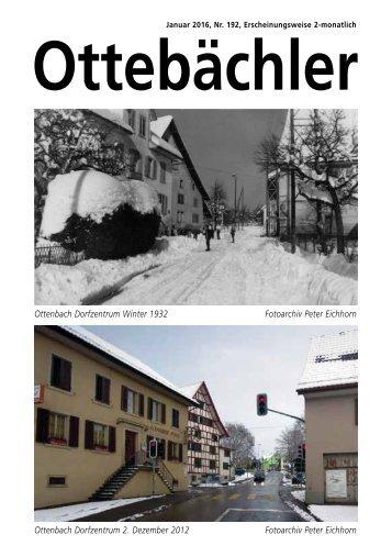 Ottebächler Nr. 192 Januar 2016