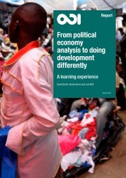 From political economy analysis to doing development differently