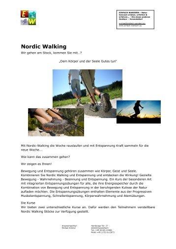 Nordic-Walking - Wir gehen am Stock...