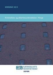 KRISINO 2015 Kriminalitets- og sikkerhetsundersøkelsen i Norge