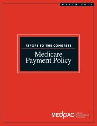 Medicare Payment Policy
