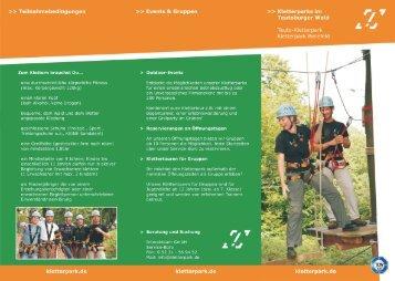 Kletterparks im Teutoburger Wald - Interakteam GmbH