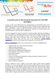 Laravel Excels As The Favourite Structure For The PHP Developers