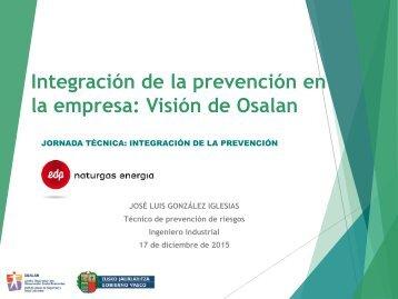 Integración de la prevención en la empresa Visión de Osalan