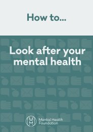 Look after your mental health